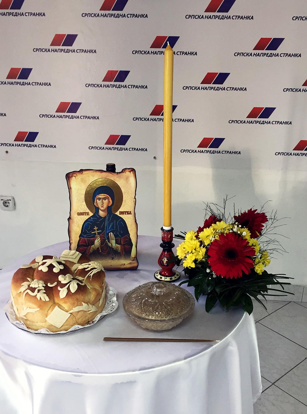 Sveta Petka – Slava SNS-a