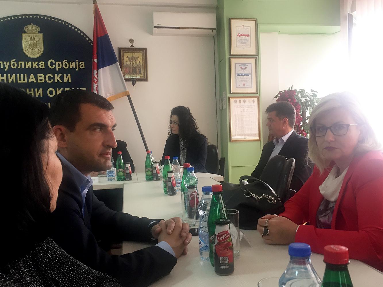 Rumunska delegacija u Nišavskom upravnom okrugu